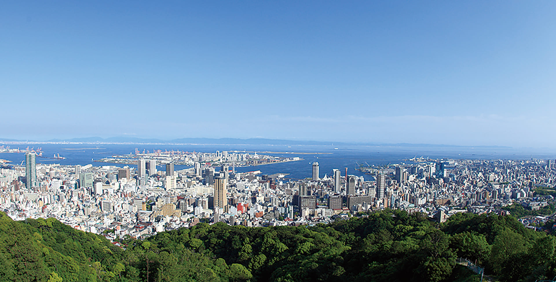 Express bus. View from Mt. Rokko