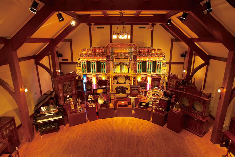 六甲オルゴール ミュージアム。様々なオルゴールが展示されています。